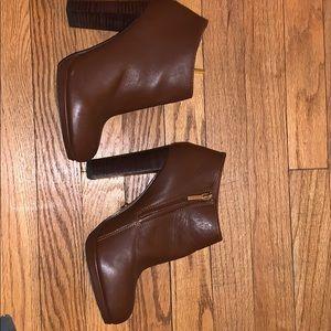Platform ankle booties